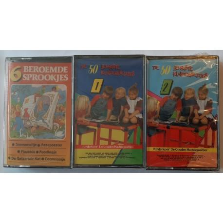 Various - 6 beroemde sprookjes, De 50 leukste kinderliedjes ( 3 Cassette)