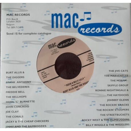 Burt Allis And The Diggers – Rock-A-Billy Lilly / Dig No One Else
