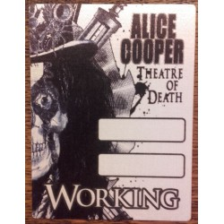 Alice Cooper - Back stage pass