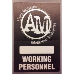 Alanis Morissette - Backstage pass.