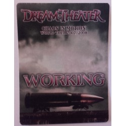 Dream Theater - Chaos In Motion World Tour 2007/2008 - Backstage Pass