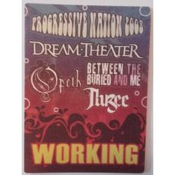 Dream Theater / Opeth, Progressive Nation 2008 Tour - Backstage Pass