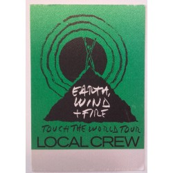 Earth, Wind & Fire, Touch the world tour - Backstage Pass.